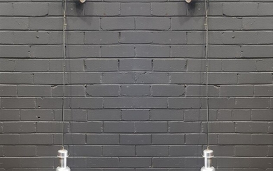 Pair of Industrial Style Hanging Light Fittings (D:32cm)
