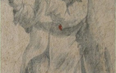 Pencil and watercolour on watermarked paper Attrib. to Michel Corneille 1603-1664 French FR3SH