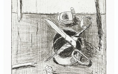 RICHARD DIEBENKORN (1922-1993), #41 (still life with plate and open scissors), from 41 Etchings Drypoints