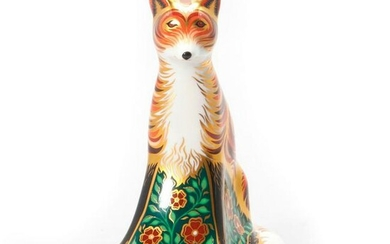 ROYAL CROWN DERBY FIGURINE PAPERWEIGHT, VIXEN