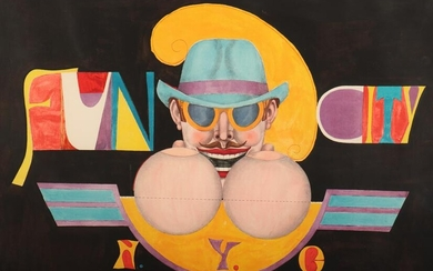 Richard Linder - Moustache Man Litho