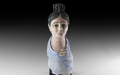 Romano-Egyptian Painted Head of a Noble Lady