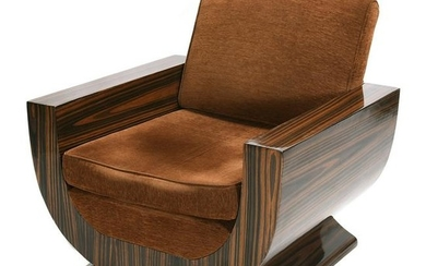 Rosewood* Veneered Club Chair in the Manner of Chareau.