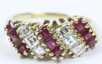 Ruby & diamond cocktail ring.