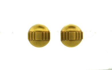 SUPER STYLISH YELLOW GOLD CLIP-ON EARRINGS BY