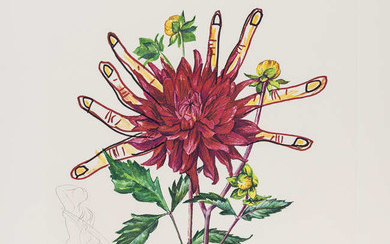 Salvador Dali (1904-1989) Dahlia Rapax (from Surrealistic Flowers) (Field 72-7-H; M&L538)