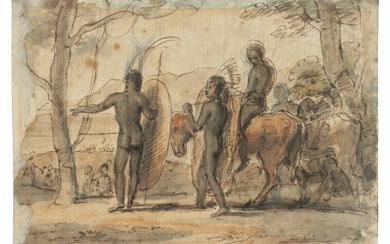 Samuel Daniell (1775-1811), Two sketches of Xhosa on the march
