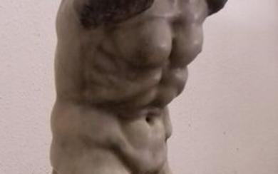 Sculpture, torso - Marble - Early 20th century