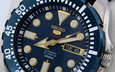 "Seiko - Automatic 24 Jewels ""Blue - Gold Tone"" Made in Japan - Men - 2018"