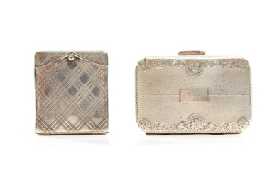 TWO CONTINENTAL SILVER POCKET CASES, 117g t.w.