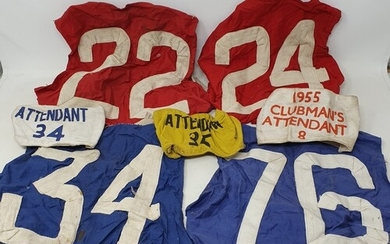 The collection of H L 'Don' Williams rider bib no.'s 22,24,3...