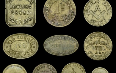 Tokens of Cheshire and Lancashire from the Collection