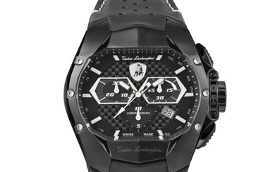 Tonino Lamborghini - GT1 Chronograph Watch Black Carbon Swiss Made - T9GD - Men - 2011-present