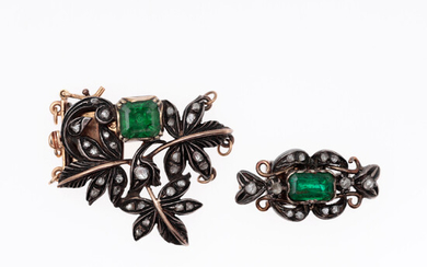 Two clasps for chokers, 19th Century.