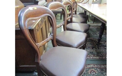 VICTORIAN DINING CHAIRS, set of 6 mahogany hoop back dining ...