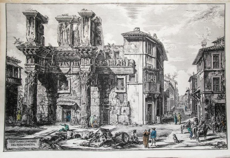 View of the Remains of the Forum of Nerva
