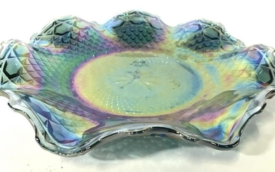 Vintage Art Glass Carnival Glass Plate