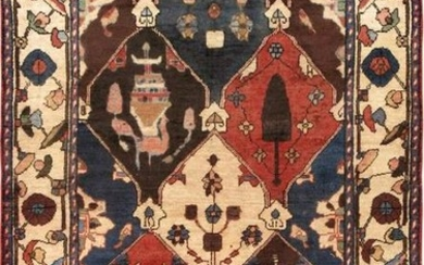 Vintage Bakhshayesh Colletion Hand-Knotted Lamb's Wool