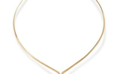 YELLOW GOLD AND SUGILITE COLLAR NECKLACE