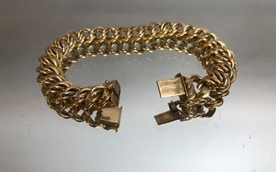 Yellow gold bracelet. P. 47 g.