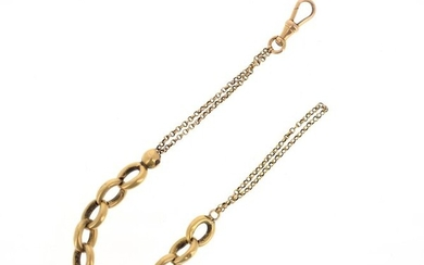 18 K (750 °/°°) yellow gold chain with chain link and jaseron chain Gross