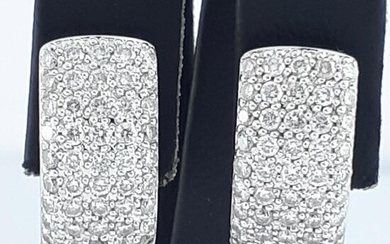 18K White Gold - Earring