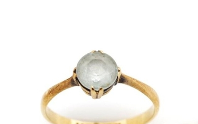 18ct yellow gold and gemstone ring marked 18ct. Approx weigh...