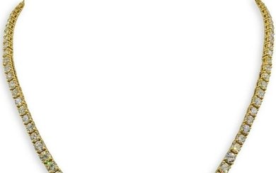 18k Gold and Diamond Tennis Necklace