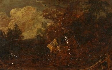 18th Century Dutch School. A Windswept Landscape, Oil