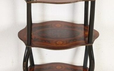 19th Century French etagere table with brass fittings
