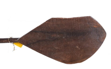 (19th c) PACIFIC ISLANDS CHIP CARVED CANOE PADDLE