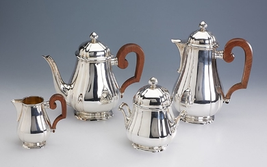 4-piece coffee- and tea set, France approx....
