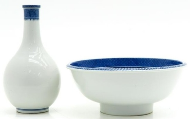 A Chinese Bottle with Bowl