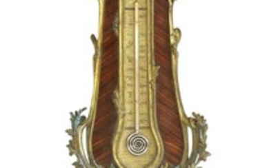 A French Louis XV-style kingwood barometer
