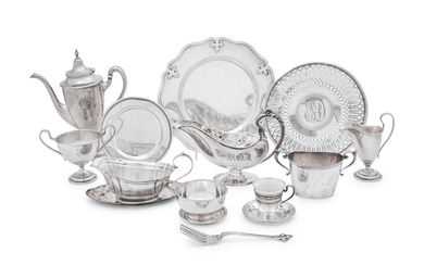 A Group of American and English Silver Holloware Articles