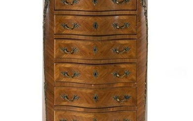 A Louis XV Style Kingwood and Tulipwood