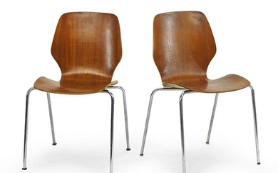 A Set of Four Westnofa, Norway Bentwood Chairs.