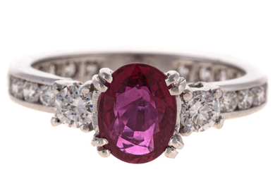 A Tiffany & Co. Ruby & Diamond Ring in Platinum
