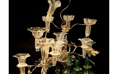 A collection of late 19th century Stourbridge clear crystal ...