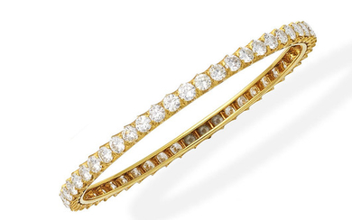 A diamond bangle