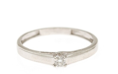 A diamond solitaire ring set with a brilliant-cut diamond weighing app. 0.06 ct., mounted in 14k white gold. W. 3 mm. Size 52.