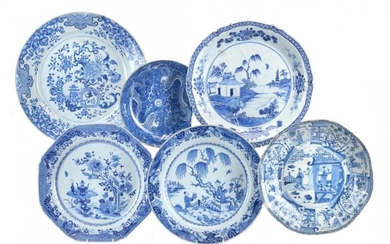 A group of Chinese blue and white