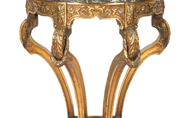 A late 19th century French giltwood console table