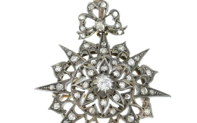A late 19th century silver and gold old and rose-cut