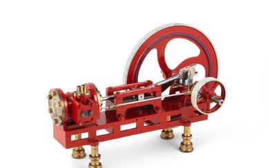 A live steam model of a horizontal mill engine