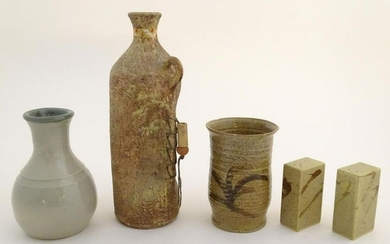 A quantity of assorted studio pottery wares, to include