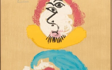 """AFTER PABLO PICASSO (1881-1973) LITHOGRAPH IN COLORS, ON WOVE PAPER 1969 F.57/250 H 27"""" W 19 1/4"""" UNTITLED, FROM IMAGINARY PORTRAITS"""