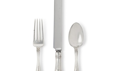 AN AMERICAN SILVER RICHELIEU PATTERN FLATWARE SERVICE, TIFFANY & CO., NEW YORK, LATE 19TH CENTURY