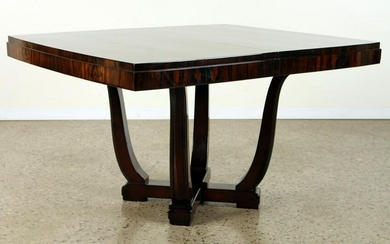 ART DECO ROSEWOOD DINING TABLE SHAPED LEGS 1930