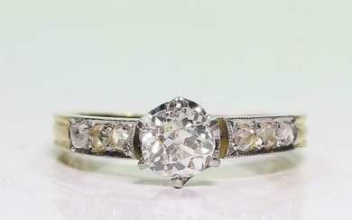 Antique Art Deco 18K Gold 1ct. Diamond Engagement Ring
